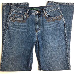 Lauren Jeans, High Rise, Embellished Pockets 8